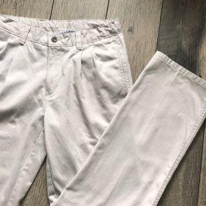 Boys Chaps Khaki Pants Size 16, adj/waistband